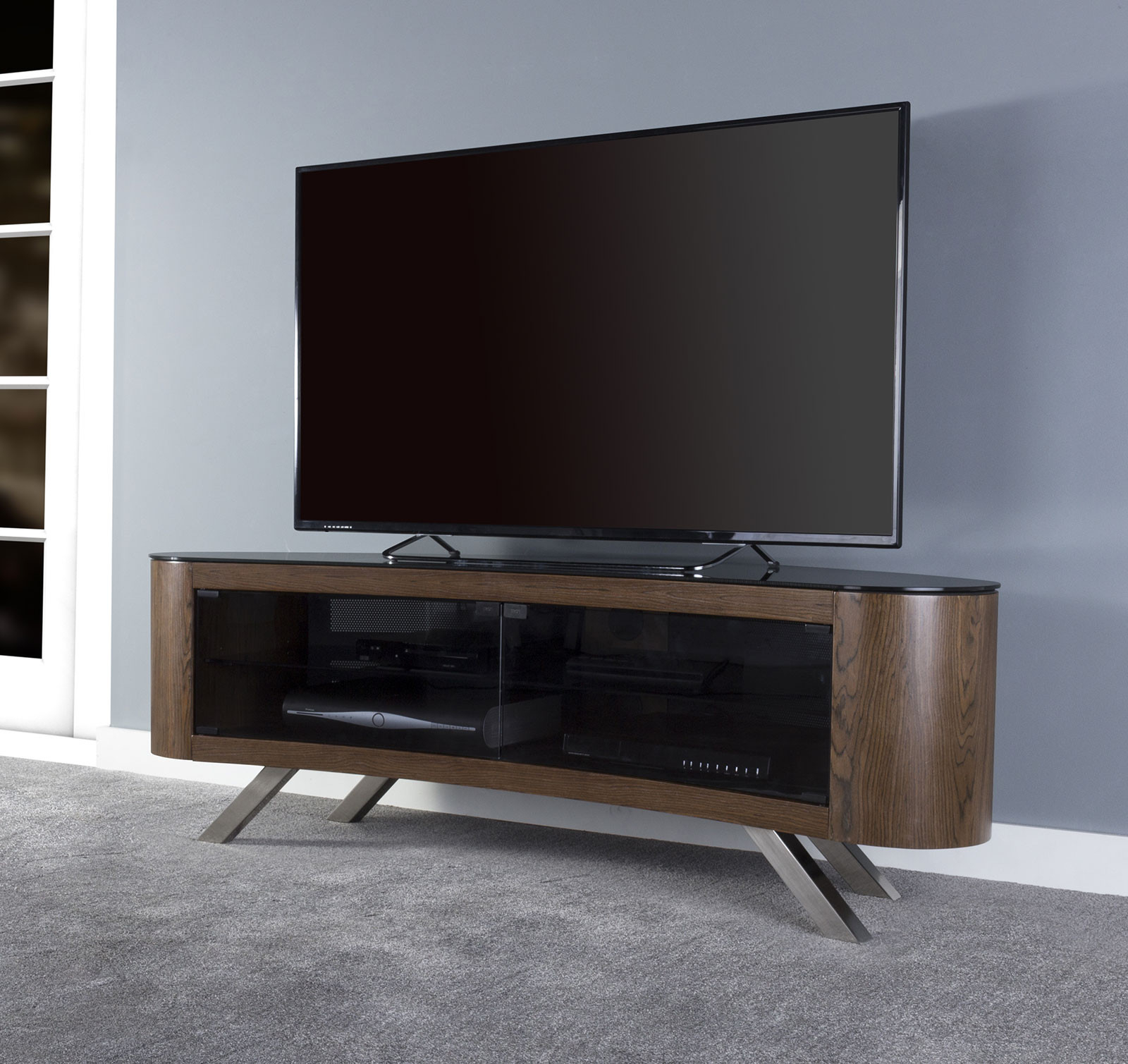 Favorite Avf Fs15Bayxw A Affinity Plus Bay Curved Tv Stand (View 15 of 20)