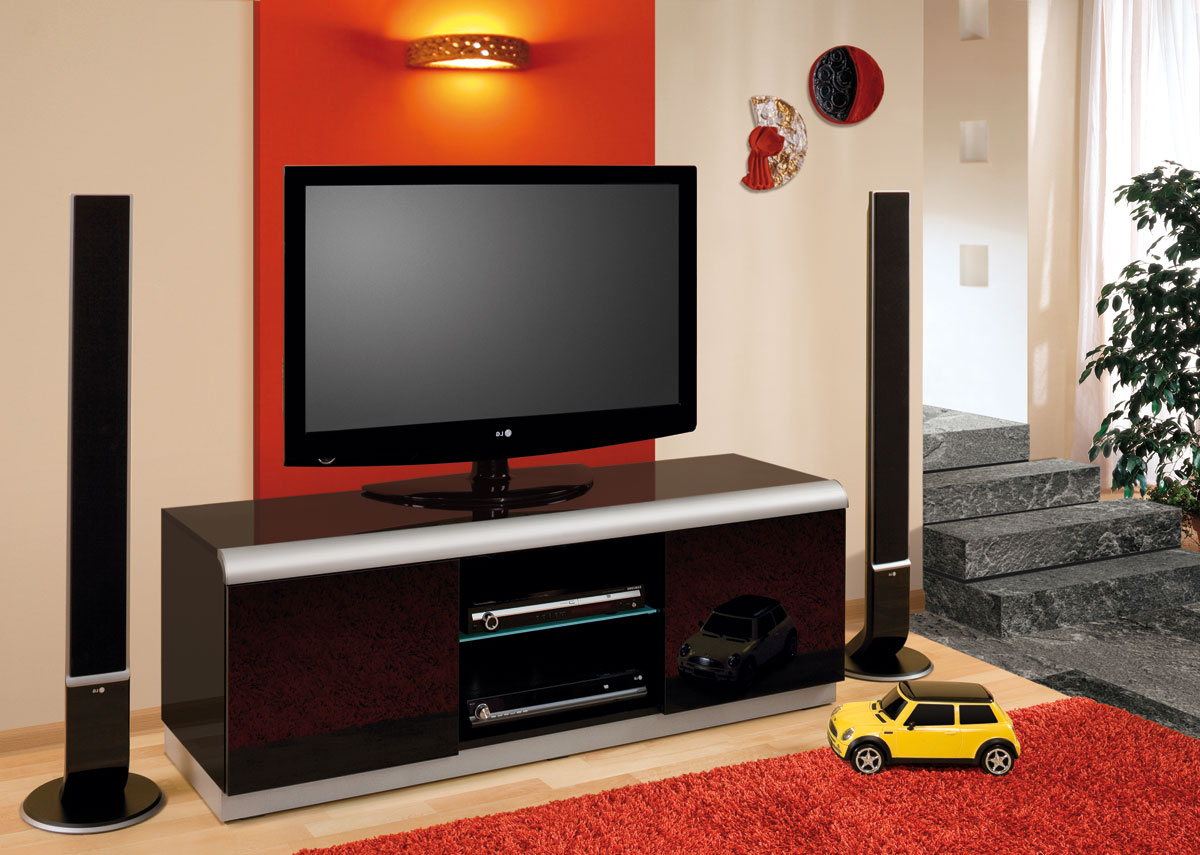 Favorite Black Gloss Tv Wall Units Inside Denver 2 Black High Gloss Tv Cabinet (View 15 of 20)