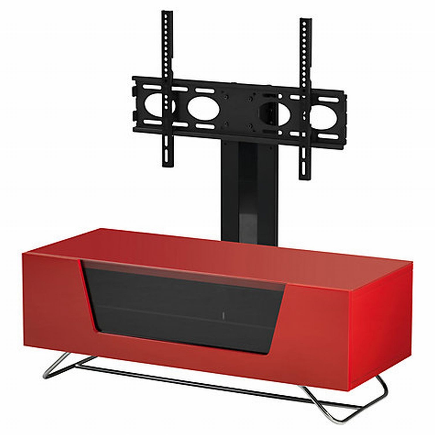 Favorite Cheap Cantilever Tv Stands Inside Casa Chromium Cantilever Hg Red Tv Stand (View 10 of 20)