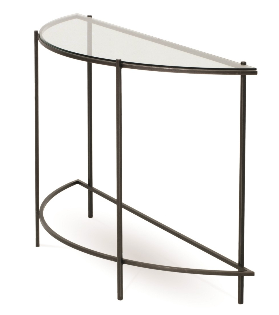 Favorite Demilune Console Table Within Clairemont Reviews Crate And Barrel Intended For Clairemont Demilune Console Tables (Gallery 13 of 20)
