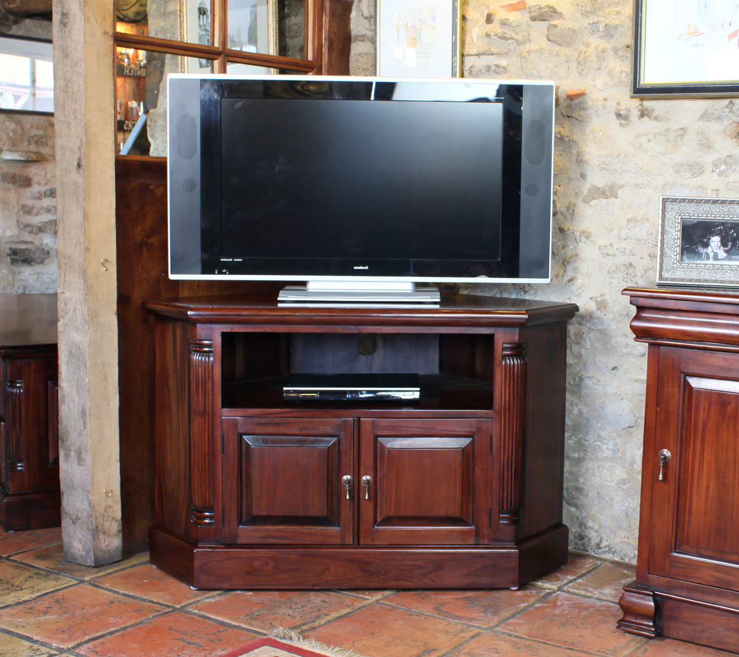 Favorite Inadam Furniture – Corner Tv Cabinet From Our 'unique Living – Solid With Mahogany Corner Tv Cabinets (View 15 of 20)
