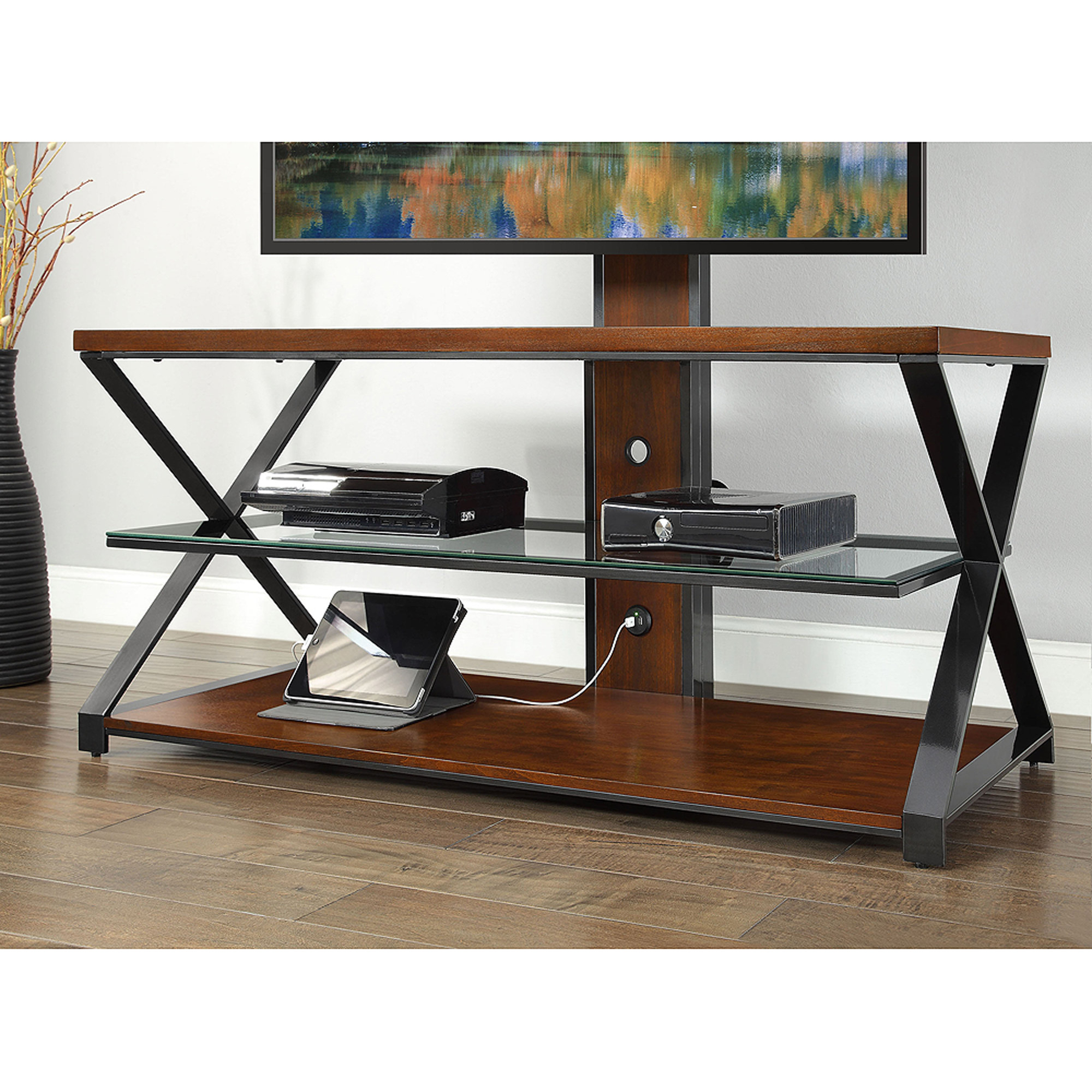 Favorite Jaxon 65 Inch Tv Stands For Sarah Tv Stands: Jaxon 3 In 1 Cognac Tv Stand For Tvs Up To 70'' (View 8 of 20)
