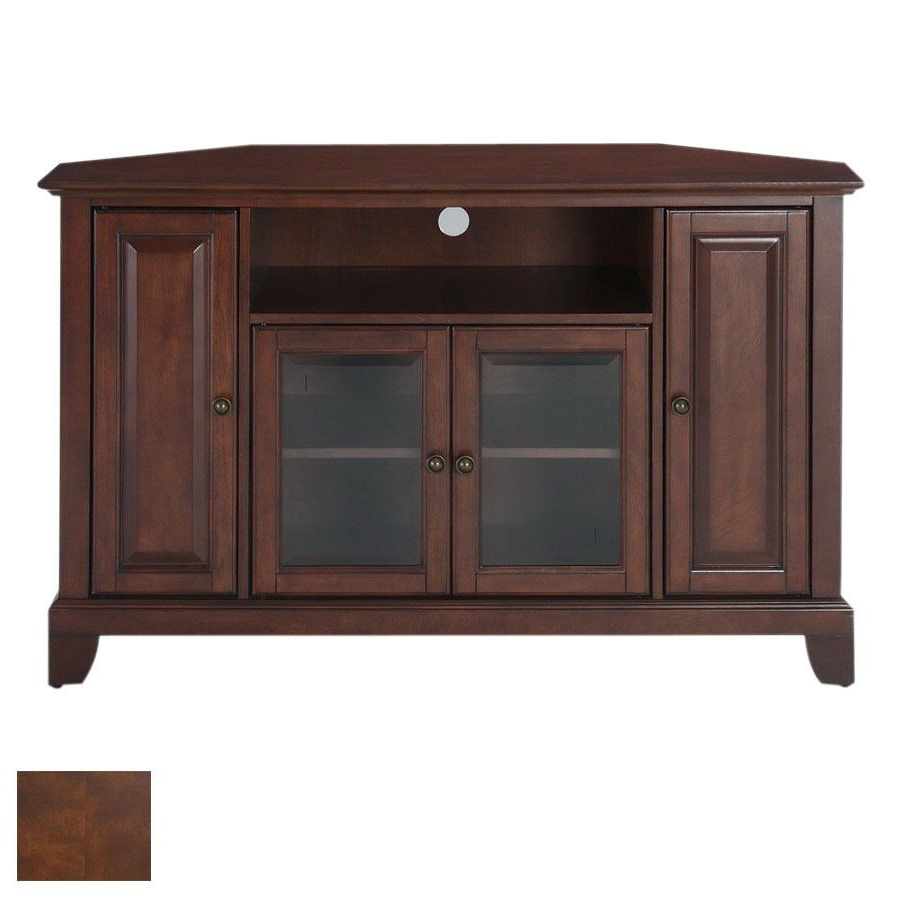 Favorite Mahogany Tv Stands With Shop Crosley Furniture Newport Vintage Mahogany Television Stand At (View 6 of 20)