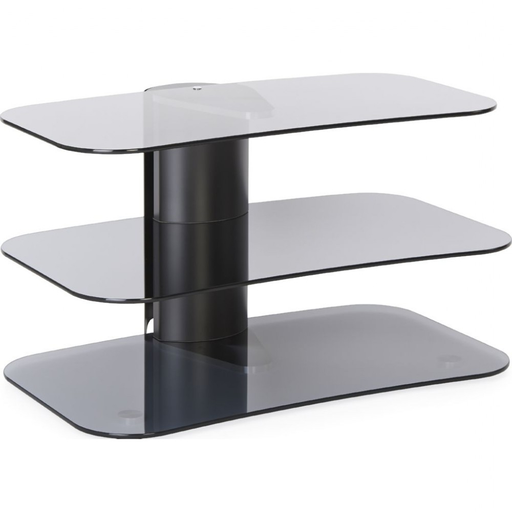 Favorite Modern Glass Tv Stands Throughout Modern Three Tier Glass Tv Stand Narrow Storage Unit (View 6 of 20)