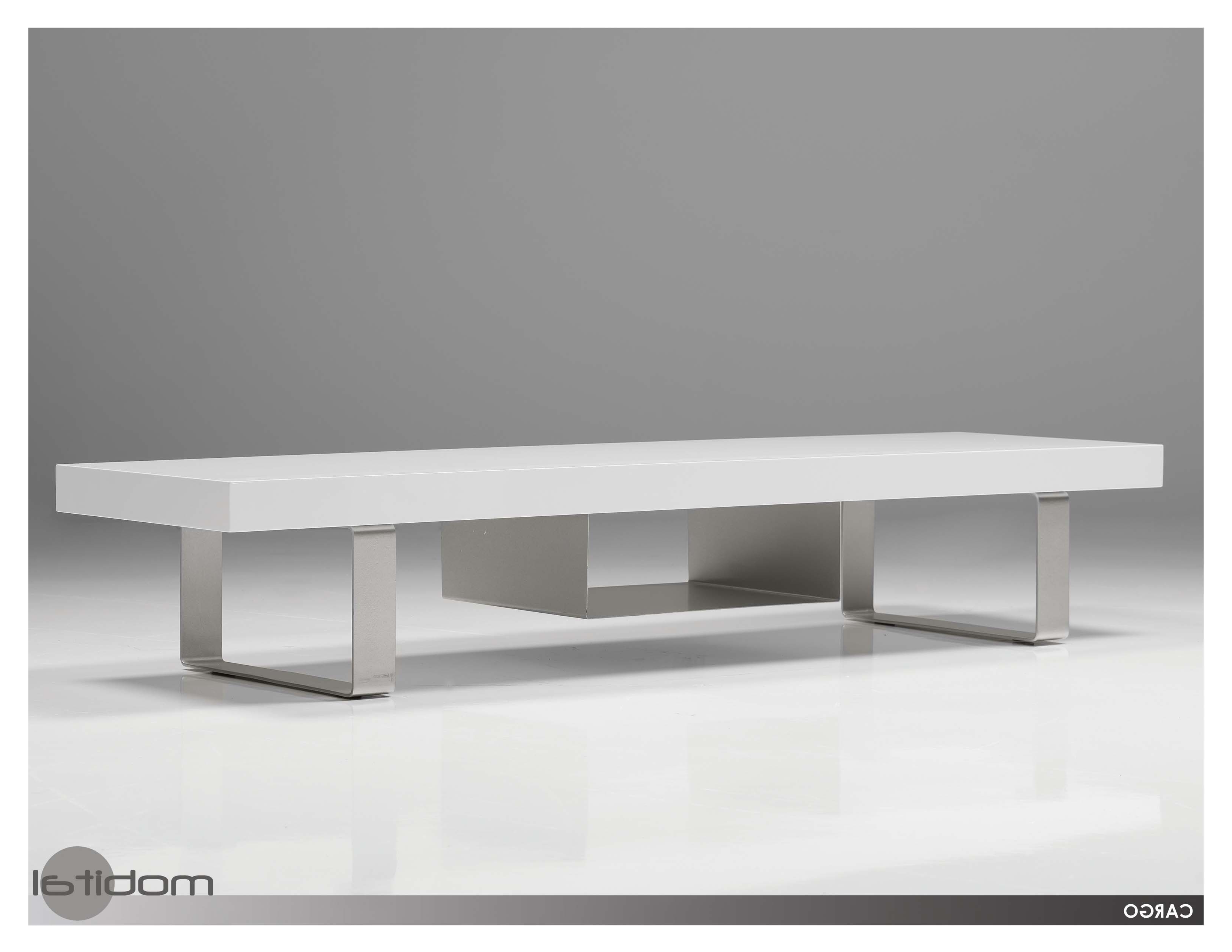 Favorite Modern White Tv Stands Throughout Mobital Cargo Modern White Tv Stand Modern Furnishings (View 11 of 20)
