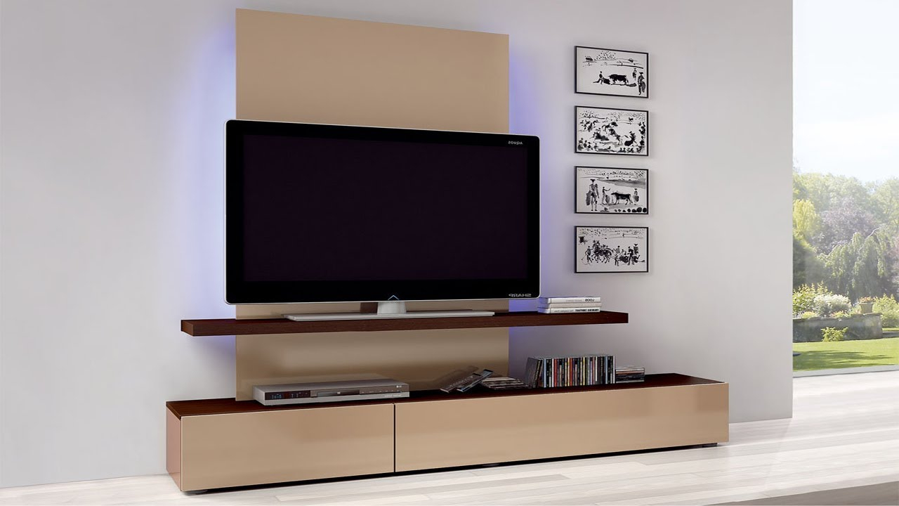 Favorite On The Wall Tv Units Within Modern Wall Mount Tv Corner Stand Ideas 2018 ! Tv Unit (Gallery 19 of 20)