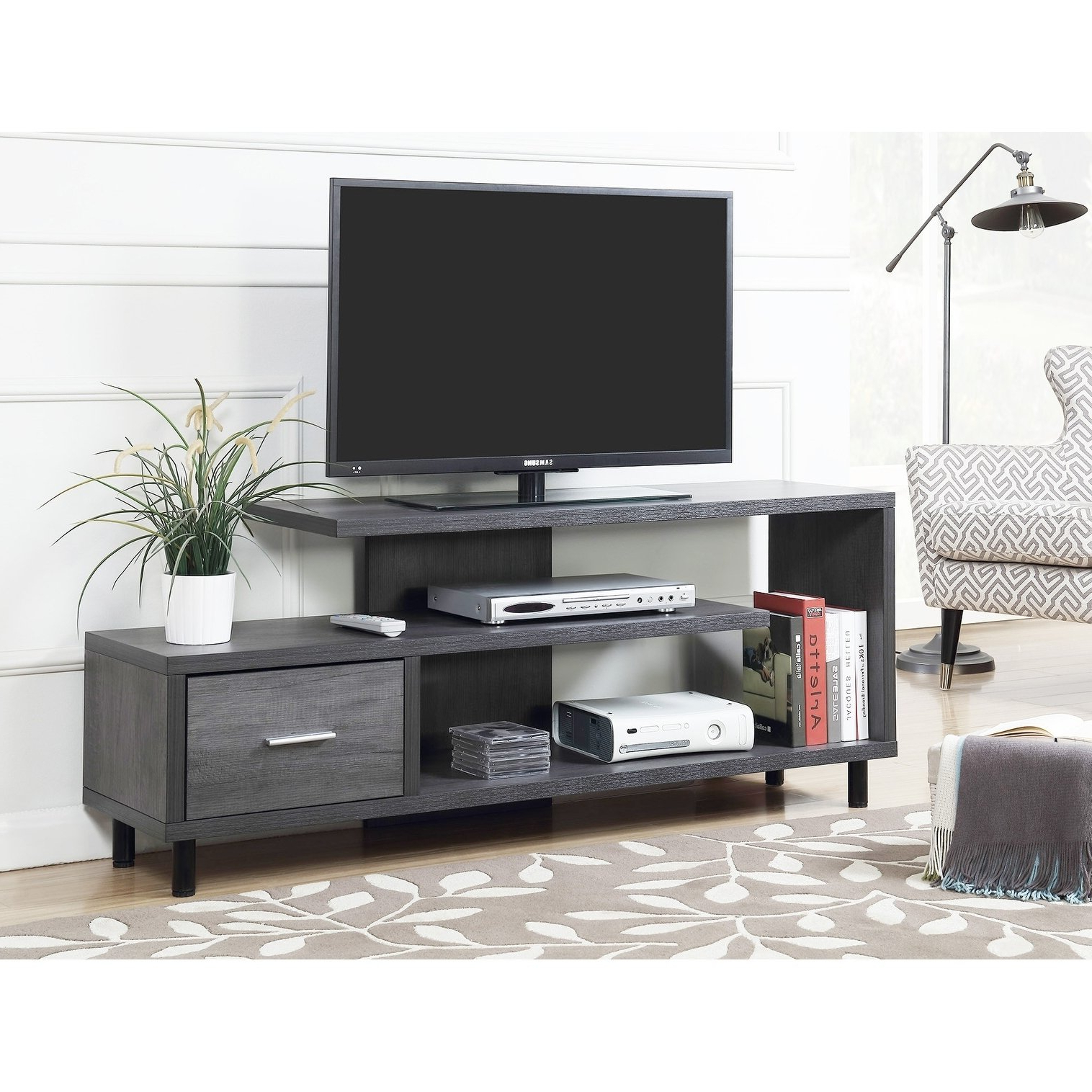 Favorite Rowan 45 Inch Tv Stands Inside Buy Grey, 42 – 60 Inches Tv Stands & Entertainment Centers Online At (Gallery 11 of 20)
