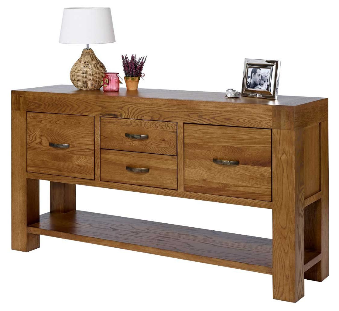 Favorite Rustic Grange Santana Rustic Oak Hall Table: Amazon.co.uk: Kitchen Intended For Santana Oak Tv Furniture (Gallery 15 of 20)