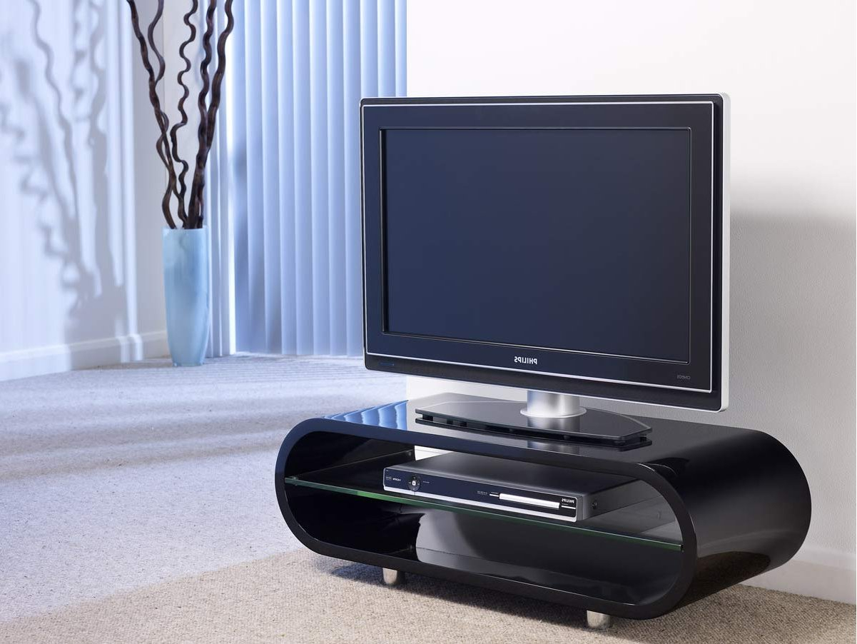 Favorite Shiny Black Tv Stands For Techlink Ov95B Tv Stands (Gallery 7 of 20)