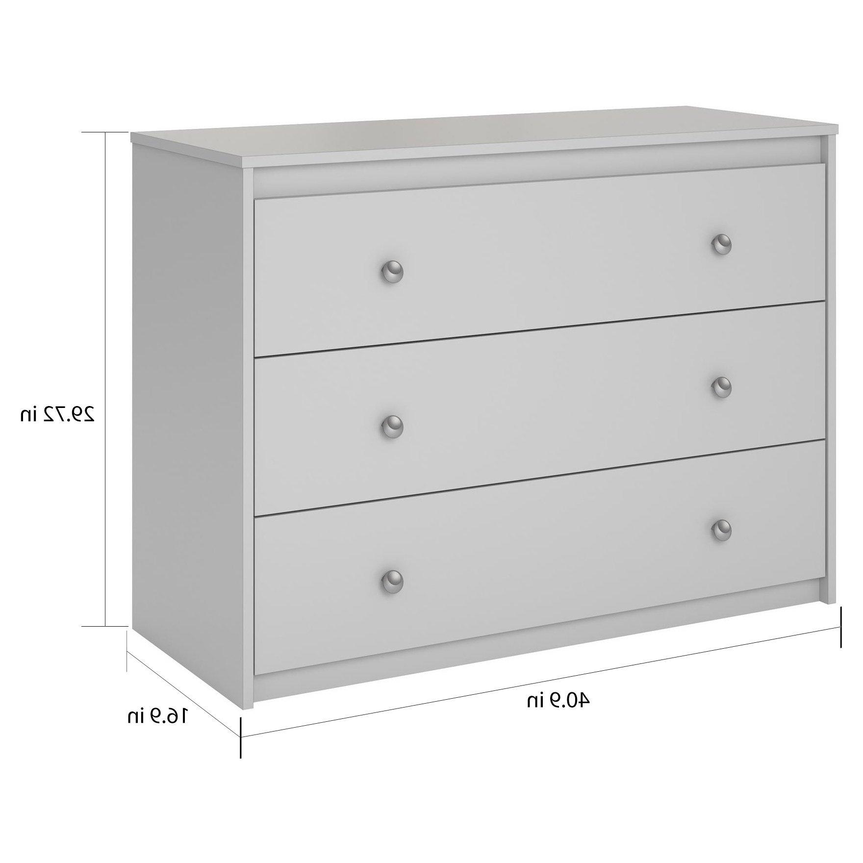 Favorite Shop Avenue Greene Raven Grey 3 Drawer Dresser – On Sale – Free For Raven Grey Tv Stands (View 11 of 20)