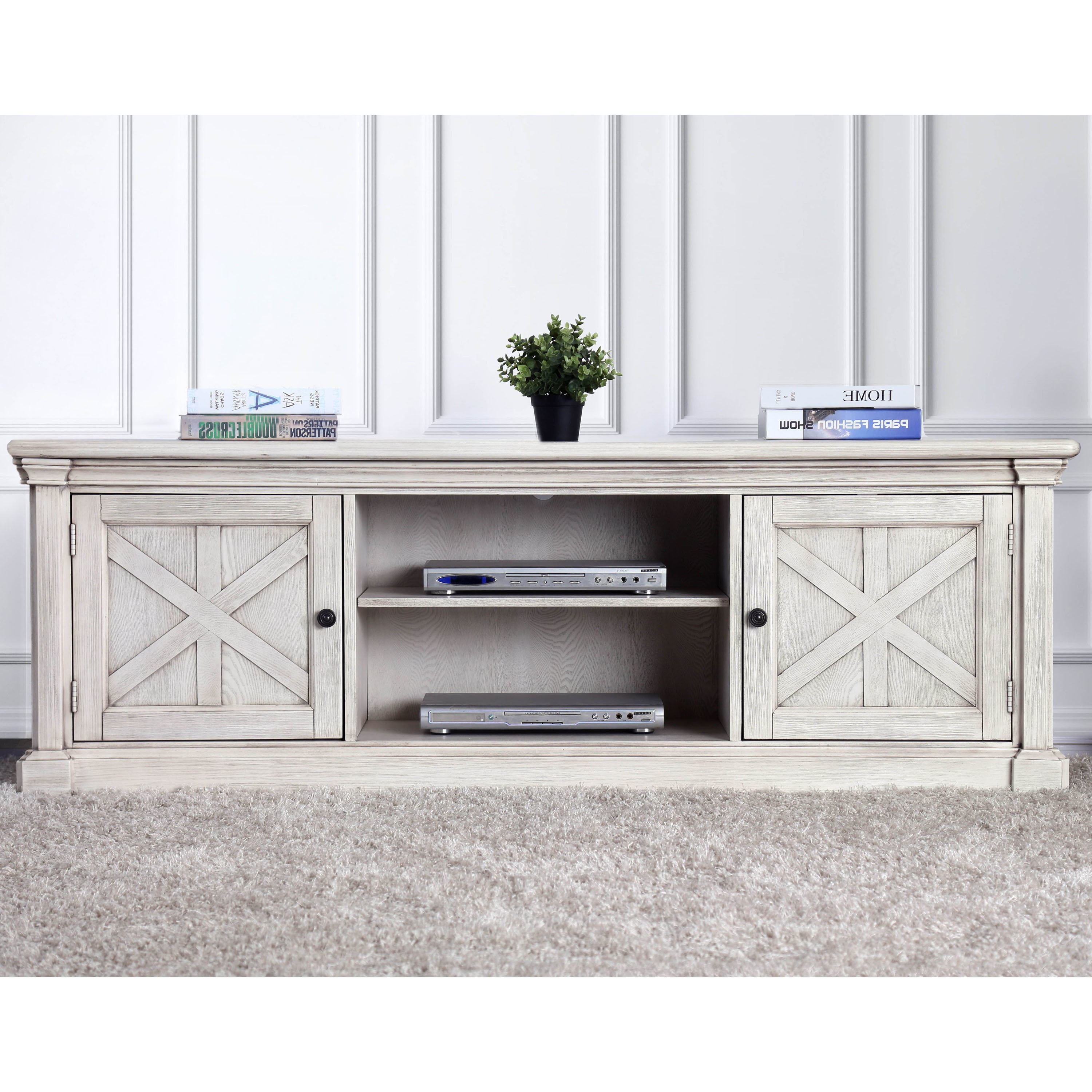 Favorite Shop Furniture Of America Lyle Rustic Antique White Tv Stand – Free For Rustic White Tv Stands (Gallery 8 of 20)