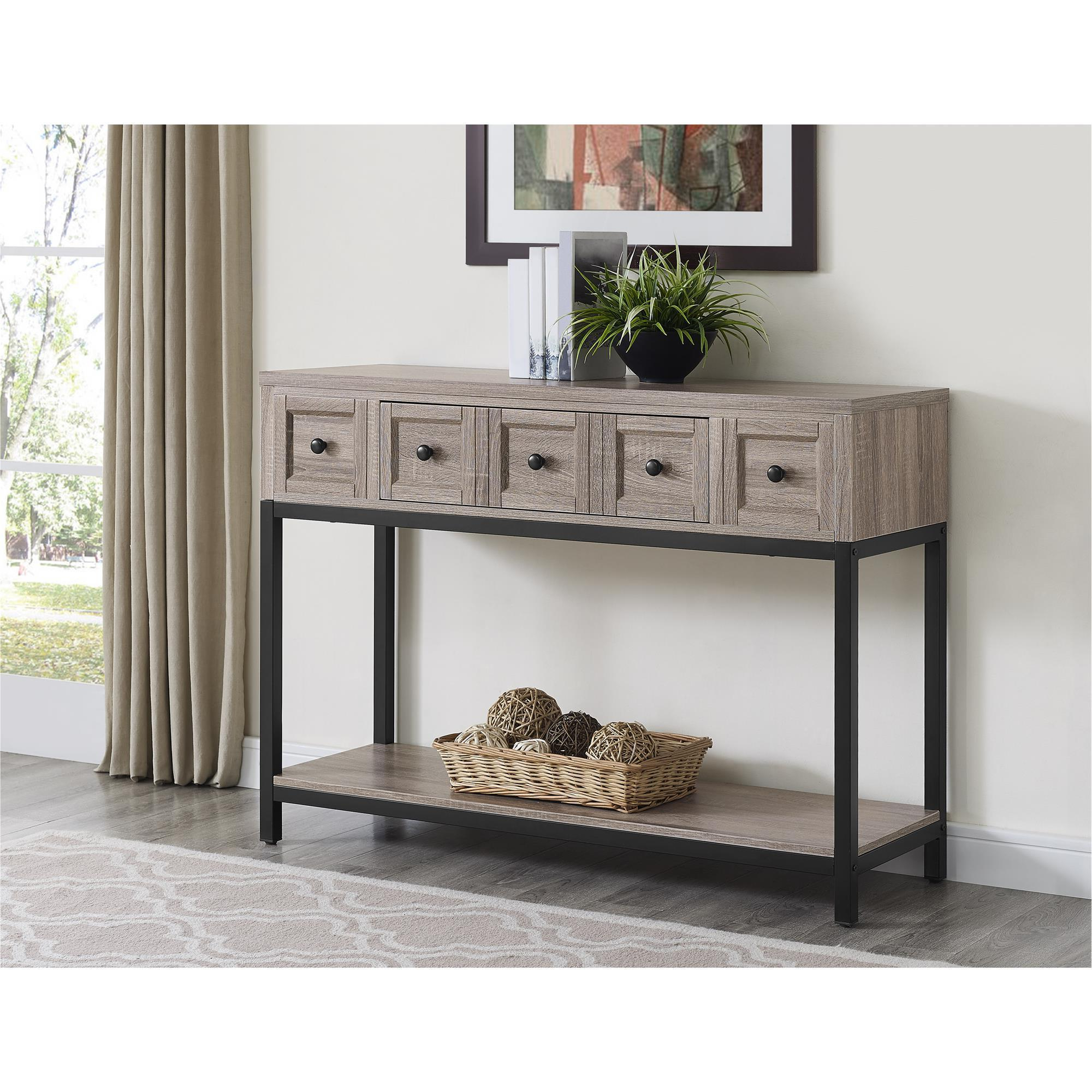 Favorite Shop The Gray Barn Latigo Sonoma Oak Modern Farmhouse Console Table Within Layered Wood Small Square Console Tables (View 7 of 20)