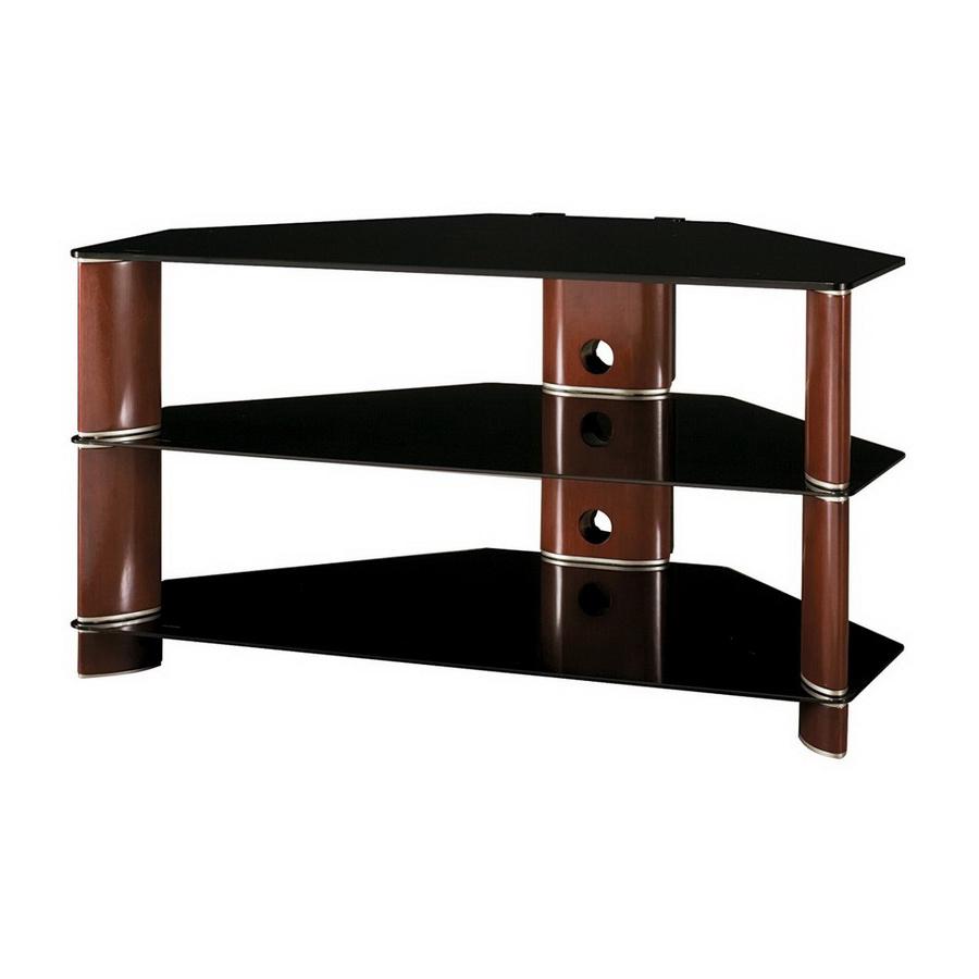 Favorite Silver Corner Tv Stands Within Bush Furniture Segments Rosebud Cherry/bright Silver Corner (View 4 of 20)