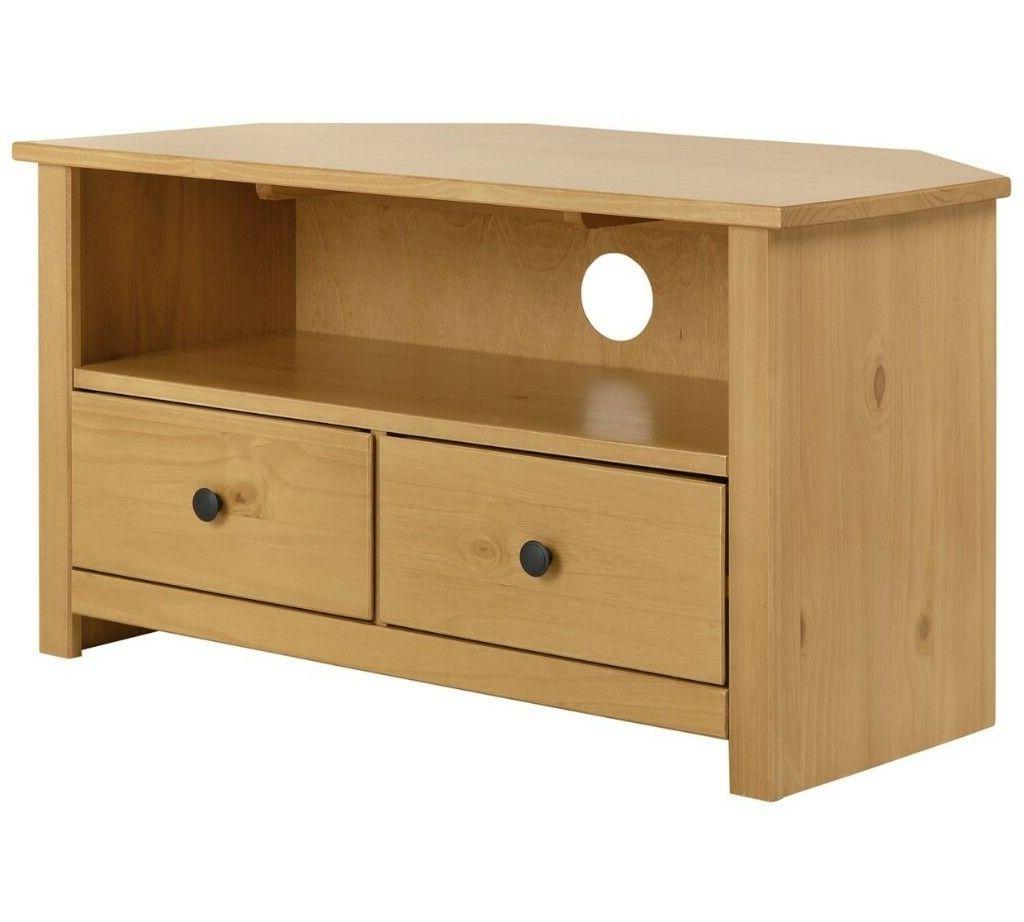 Favorite Solid Wood Corner Tv Cabinets Inside Home Porto Solid Wood Corner Tv Unit – Oak Effect (View 8 of 20)