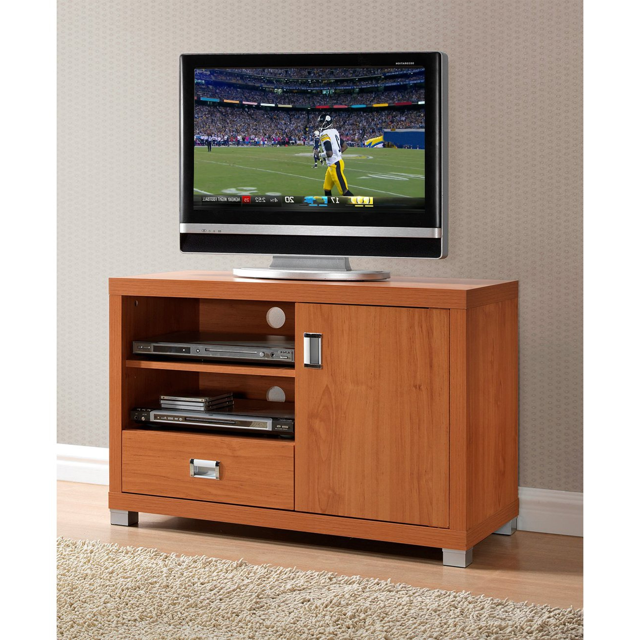 Favorite Tv Stands 38 Inches Wide Inside Shop Urban Designs Tv Stand For Tvs Up To 38 Inches With Storage (View 7 of 20)