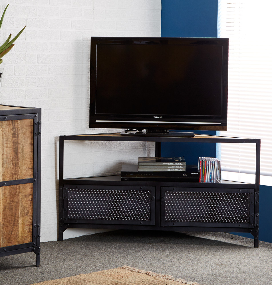 Favorite Unique Corner Tv Stands With Endearing Furnitech Tv Stand Media Console Together With A Tv Stand (View 6 of 20)