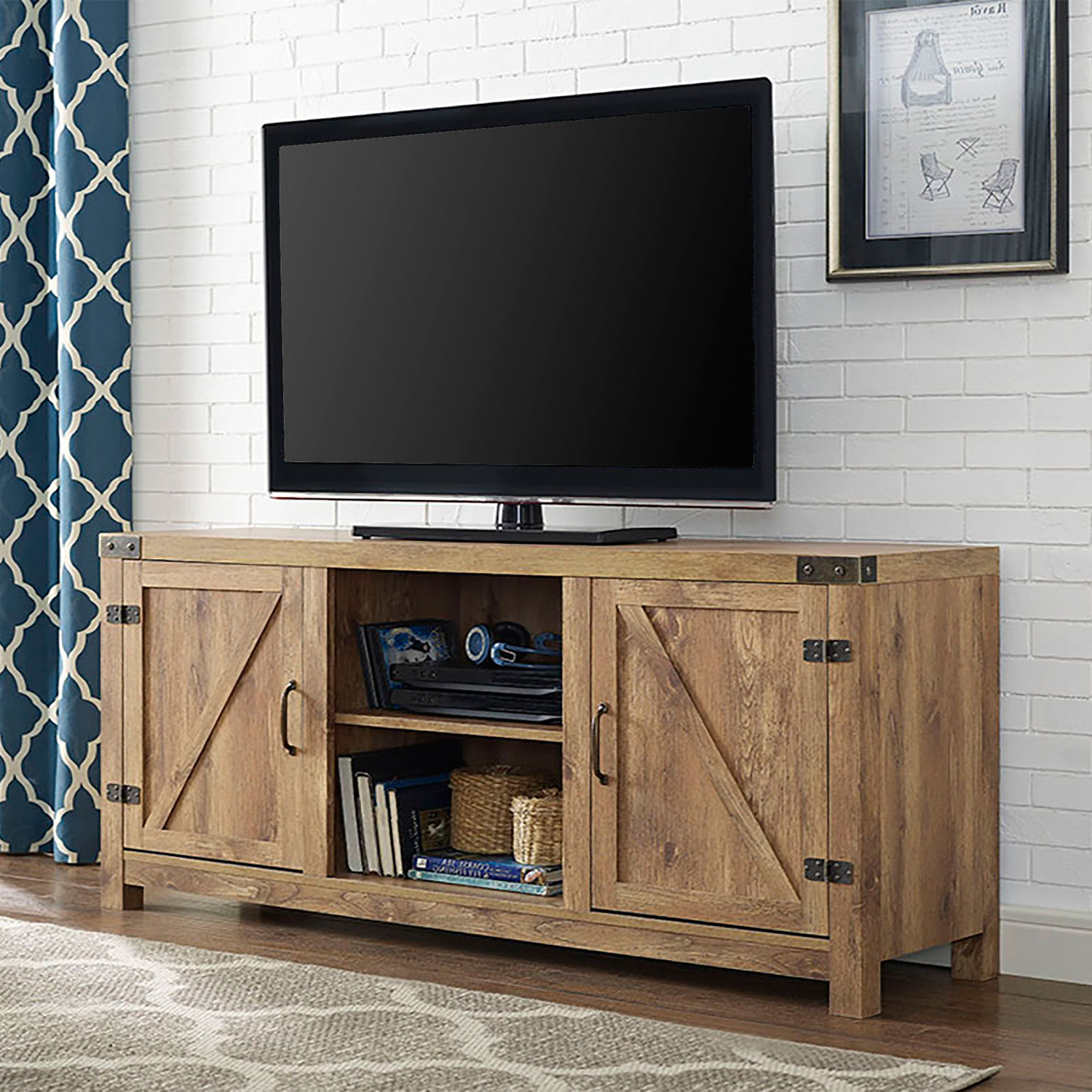 Favorite Walker Edison Furniture Co. 58 Inch Barn Door Tv Stand With Side For Under Tv Cabinets (Gallery 10 of 20)