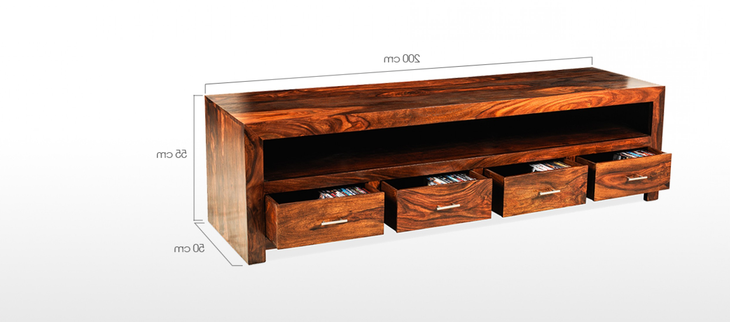 Favorite Wide Tv Cabinets Intended For Cube Sheesham Long Plasma Tv Cabinet (Gallery 5 of 20)
