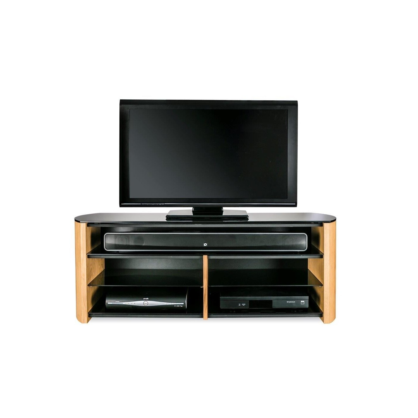 Finewoods Soundbar Wood Veneer Tv Stand (View 15 of 20)