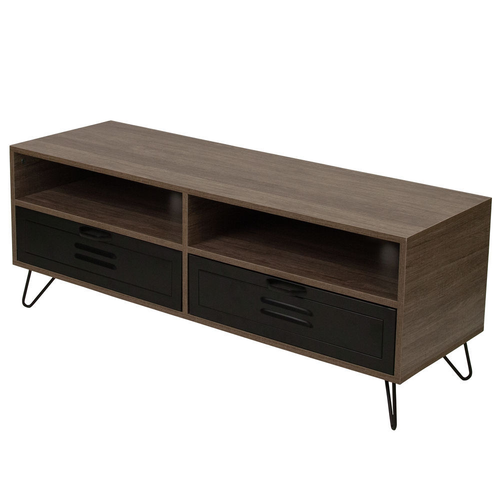 Flash Furniture Rustic Tv Stand With Drawers Intended For Well Known Rustic Tv Stands (View 17 of 20)