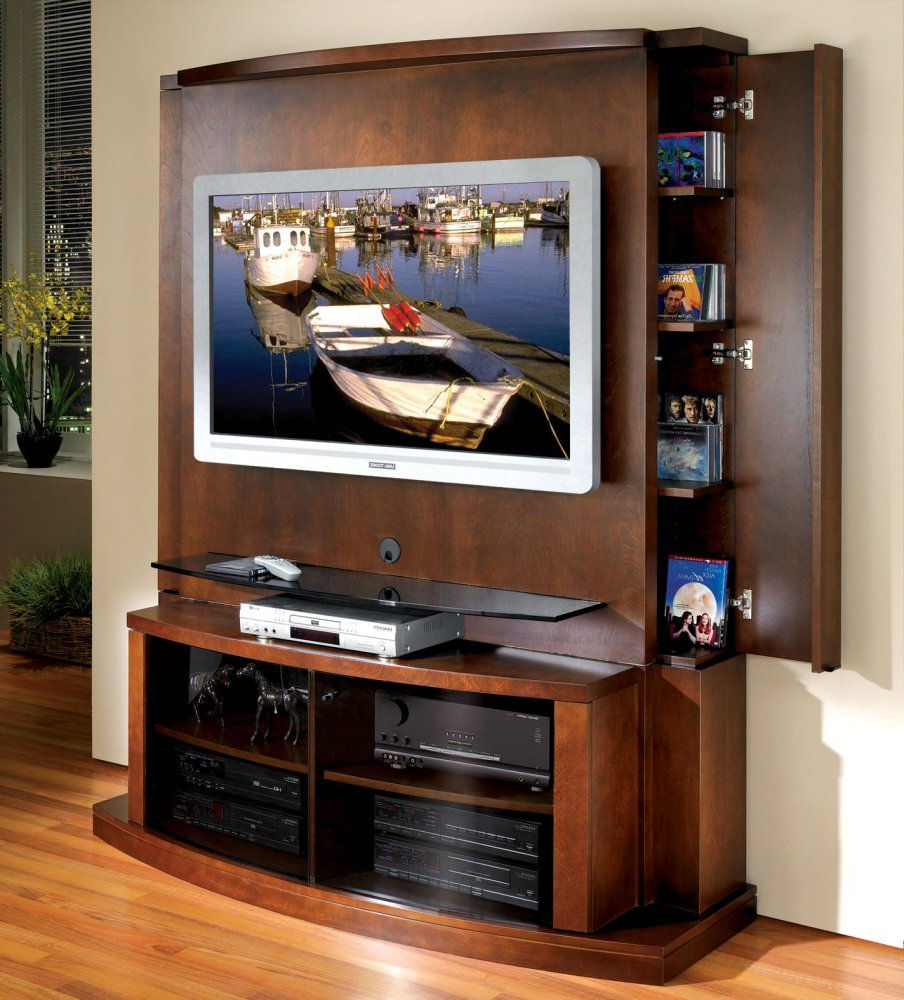 Flat Panel / Flat Screen Tv Stand With Back Panel – Tango – Jsp In Recent Tv Stands With Back Panel (Gallery 6 of 20)