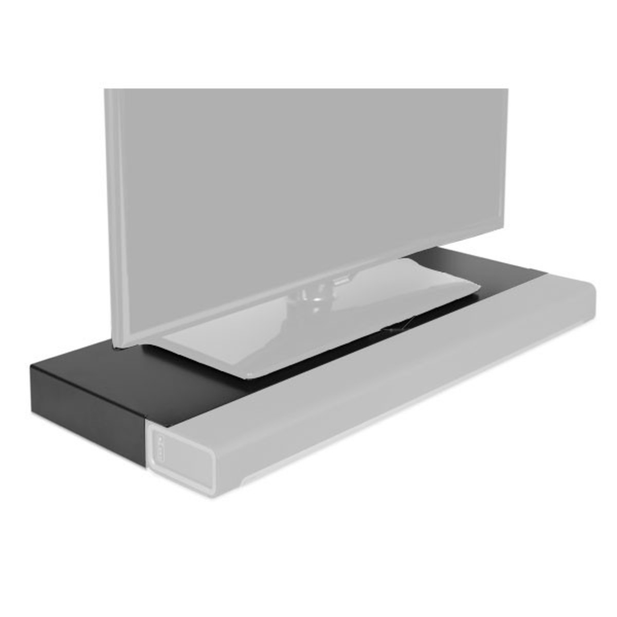 Flexson Tv Stand For Sonos Playbar, Black At Gear4Music Pertaining To Favorite Sonos Tv Stands (Gallery 2 of 20)