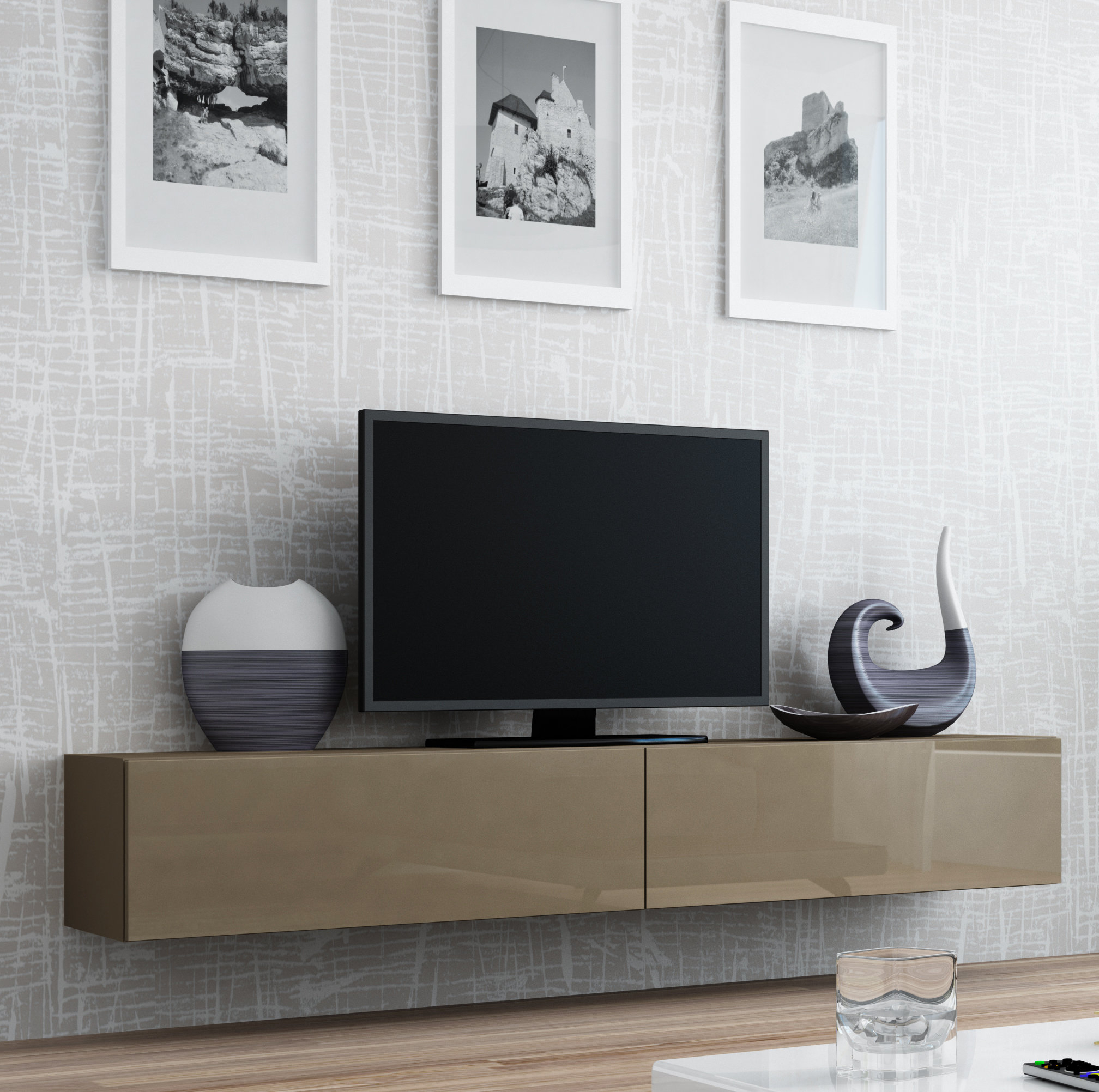 Floating Tv Cabinets With Best And Newest Modern & Contemporary Floating Media Cabinet (Gallery 15 of 20)