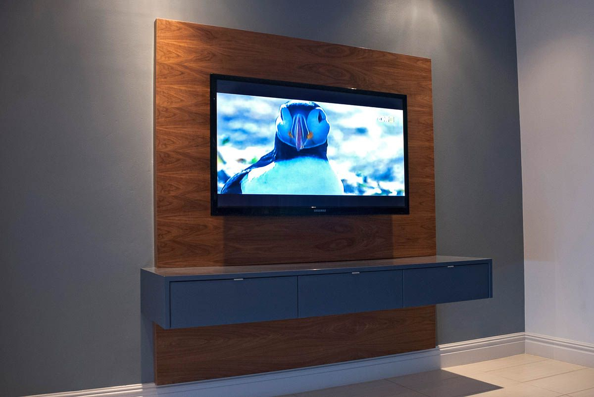 Floating Tv Cabinets With Widely Used Floating Television Unit With Samsung Television (View 10 of 20)