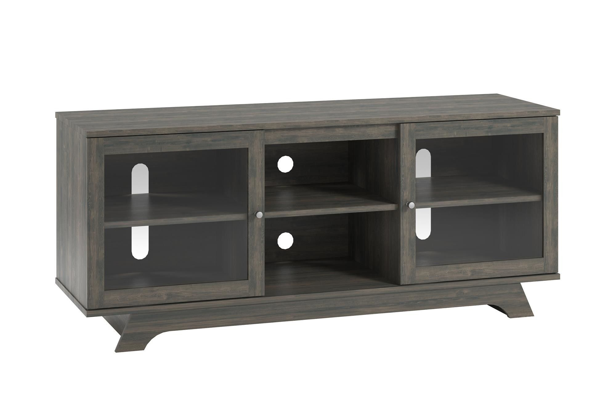 Floating Wooden Tv Stand Cabinet With Doors That Enclose And Drawers For Well Known Enclosed Tv Cabinets With Doors (Gallery 20 of 20)