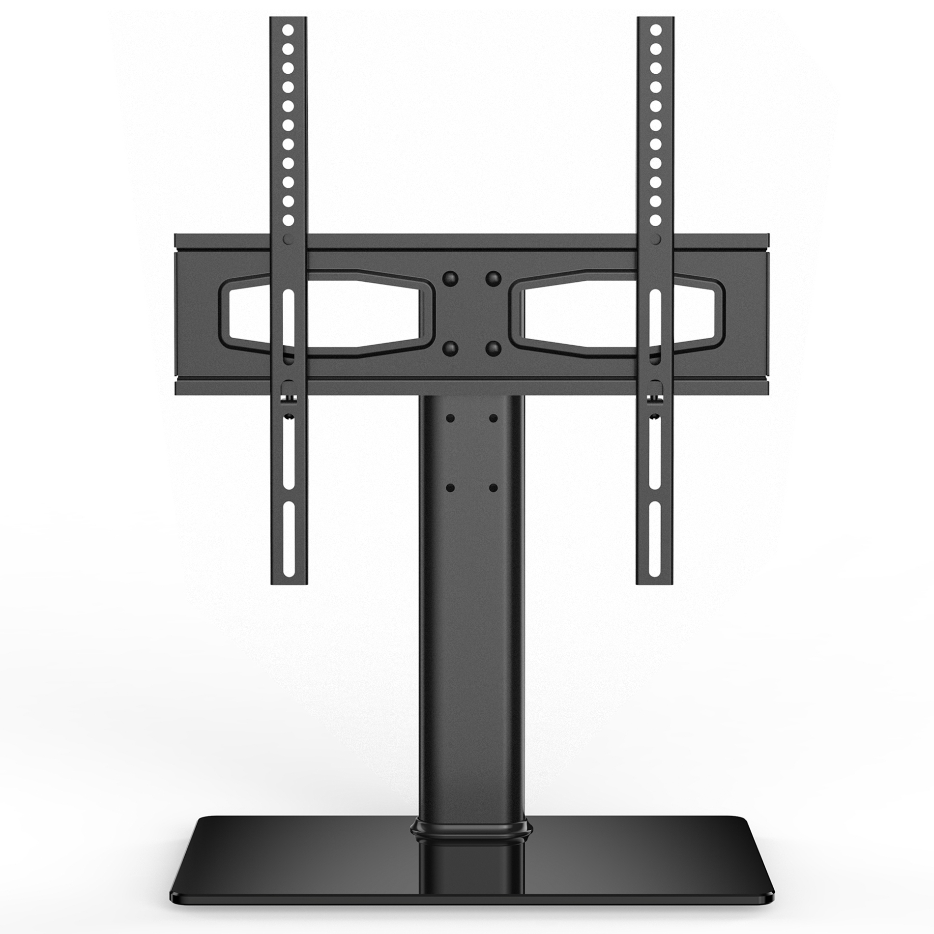 Floor Stand Monitor Mount Mounted Dual Triple Fitueyes Universal Tv Inside Most Popular Dual Tv Stands (View 14 of 20)