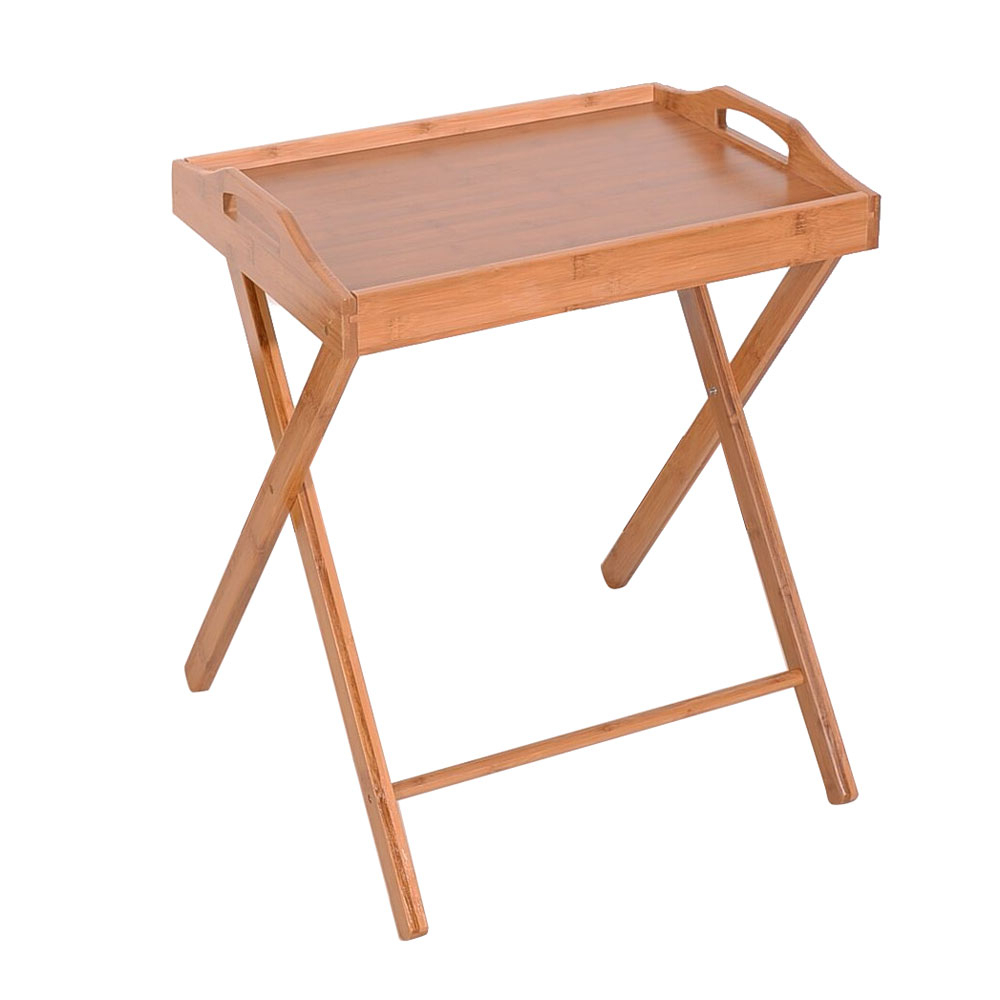 Folding Tv Tray Table Stand Eating Snack Dinner Coffee Wooden Home Regarding Current Folding Tv Trays With Stand (View 8 of 20)