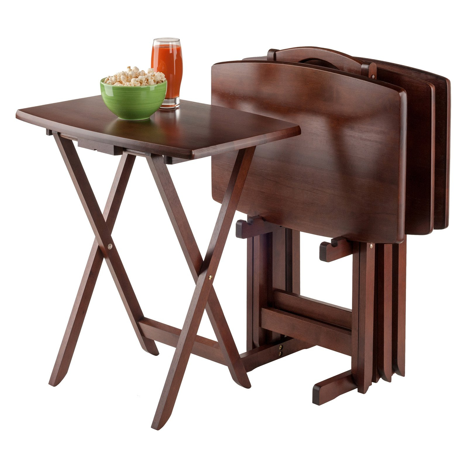 Folding Tv Trays With Stand With Regard To Most Popular Tv Dinner Stands Awesome Amazon Com 5 Piece Tv Tray Snack Folding (Gallery 1 of 20)