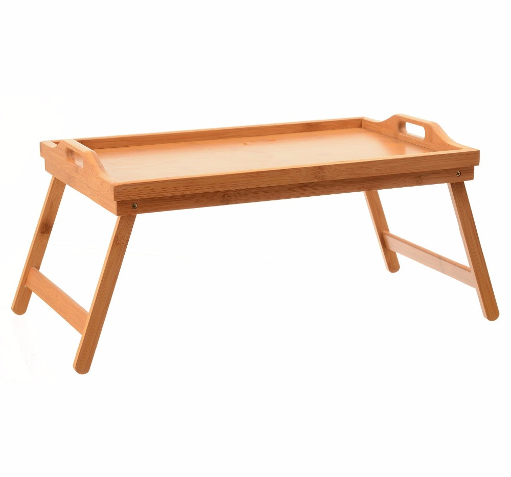 Folding Wooden Tv Tray Tables Intended For Fashionable Tv Dinner Folding Bed Tray Table Breakfast Tray Bamboo Wood Bed (Gallery 14 of 20)