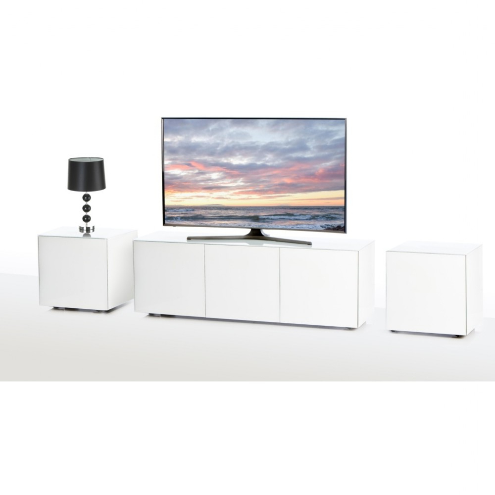 Frank Olsen Intellamp1500wht Tv Stand / Lamp Table Set White Gloss Inside Newest Gloss White Tv Cabinets (View 6 of 20)