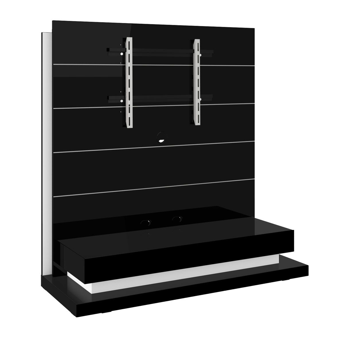 Free Standing Panorama Lux Black Tv Stand Intended For Well Liked Panorama Tv Stands (Gallery 2 of 20)