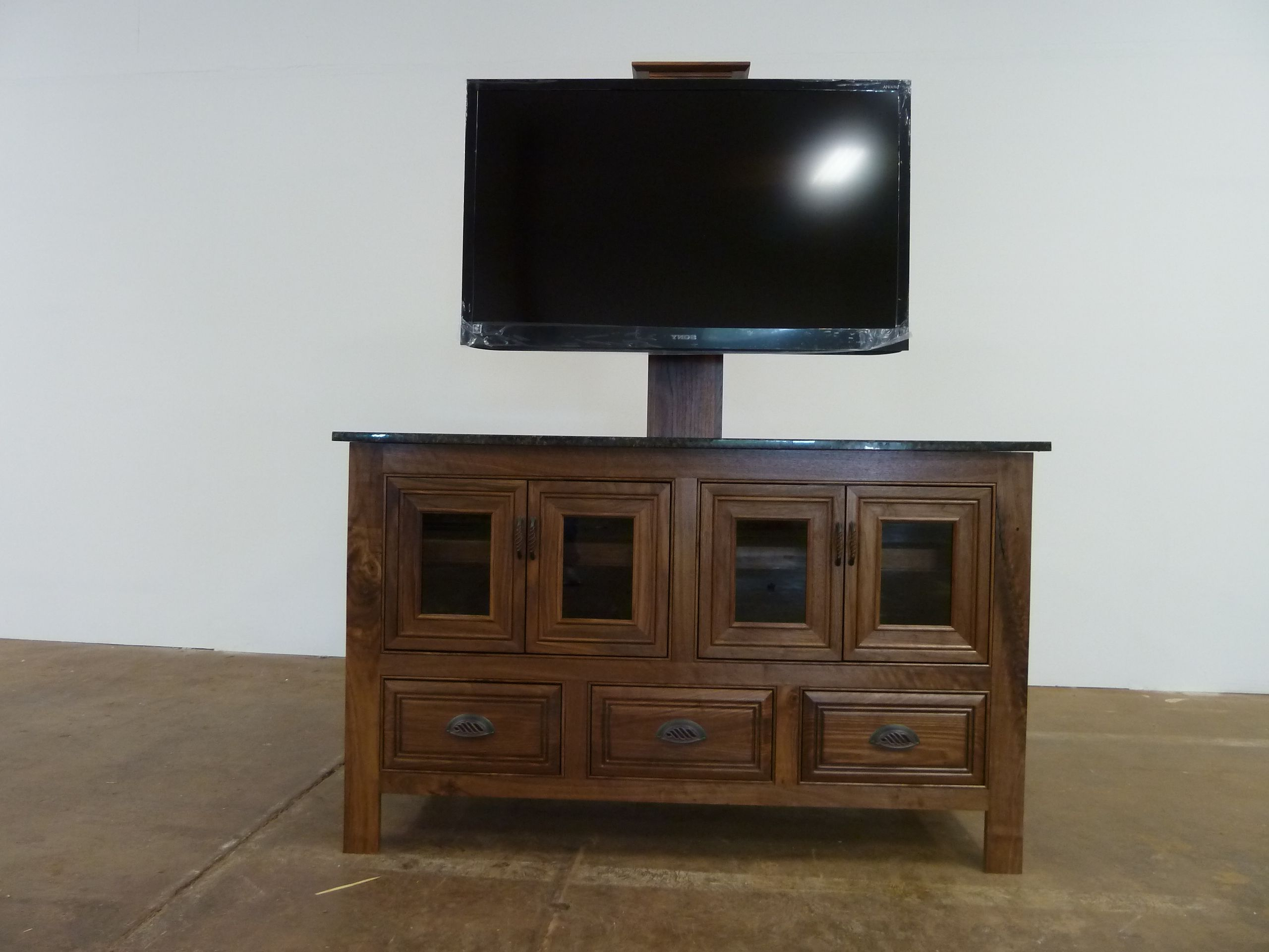 Freestanding Tv Stands Pertaining To Favorite Solid Walnut Tv Stand, Freestanding, (View 14 of 20)