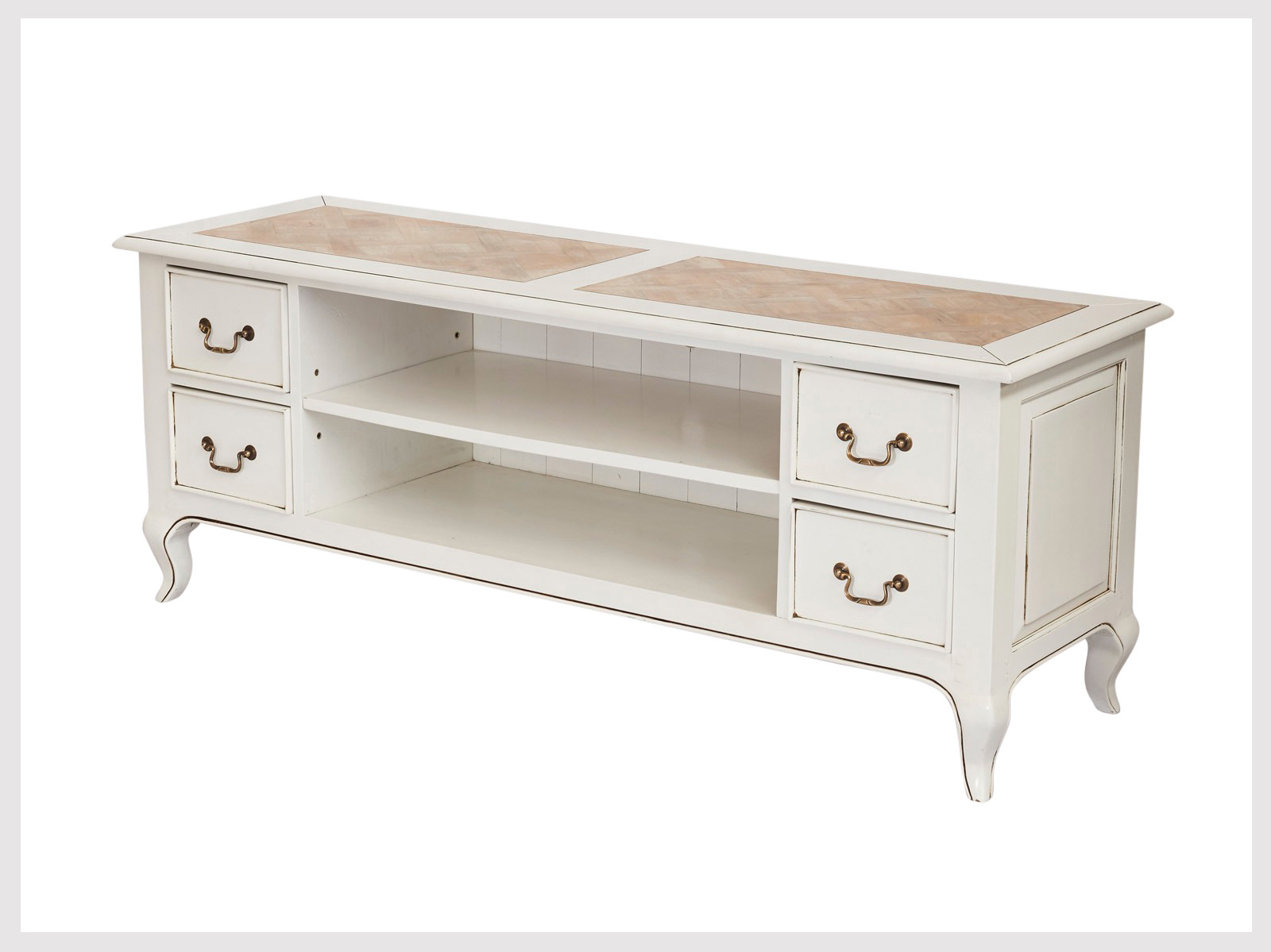 French Country Tv Cabinets Throughout Most Popular Contemporary White Tv/cabinet Unit In French Provincial Style (Lw14 (Gallery 13 of 20)
