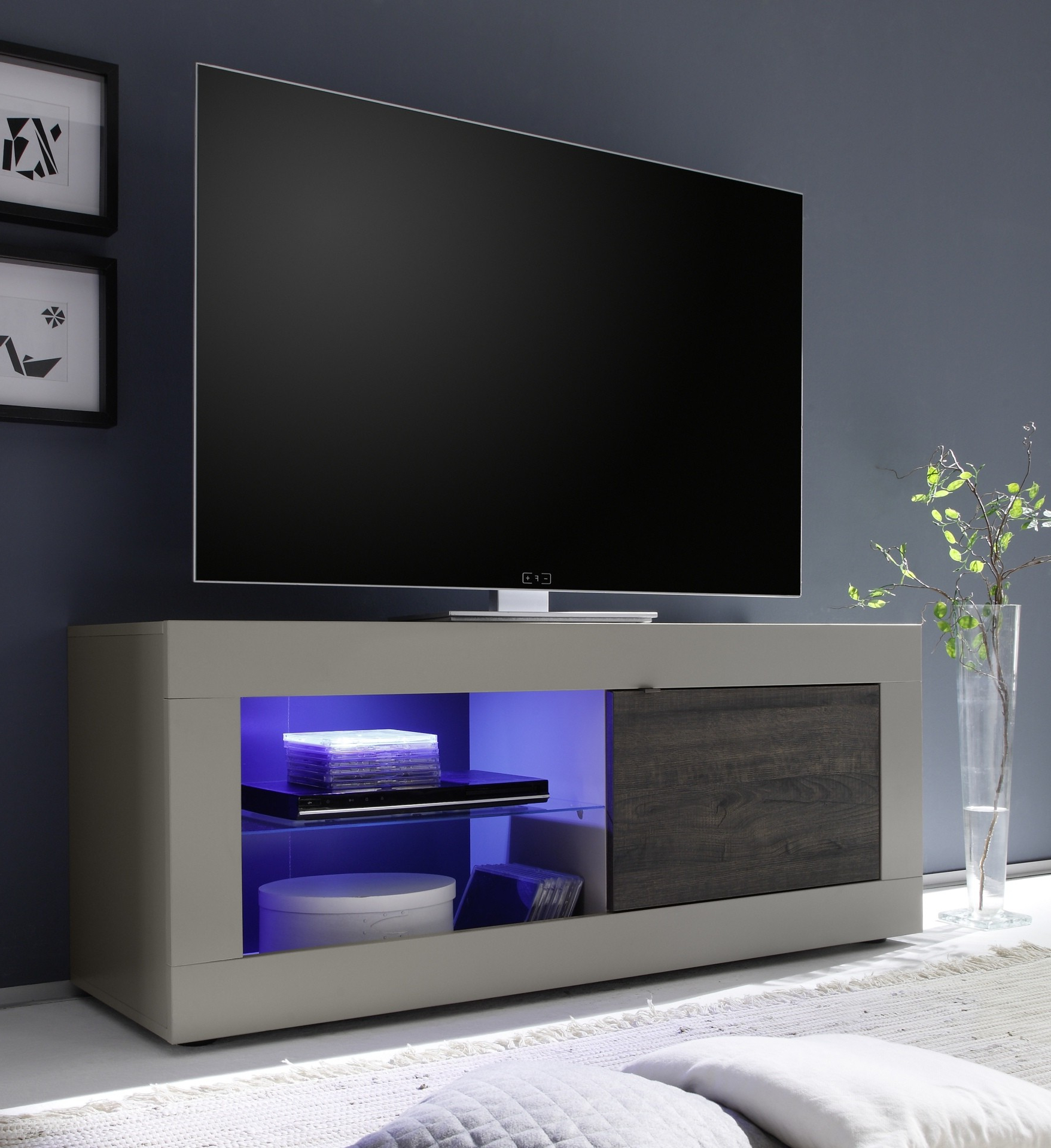 Funky Tv Cabinets In Trendy Dolcevita Matt Beige Tv Stand – Tv Stands (1239) – Sena Home Furniture (View 7 of 20)