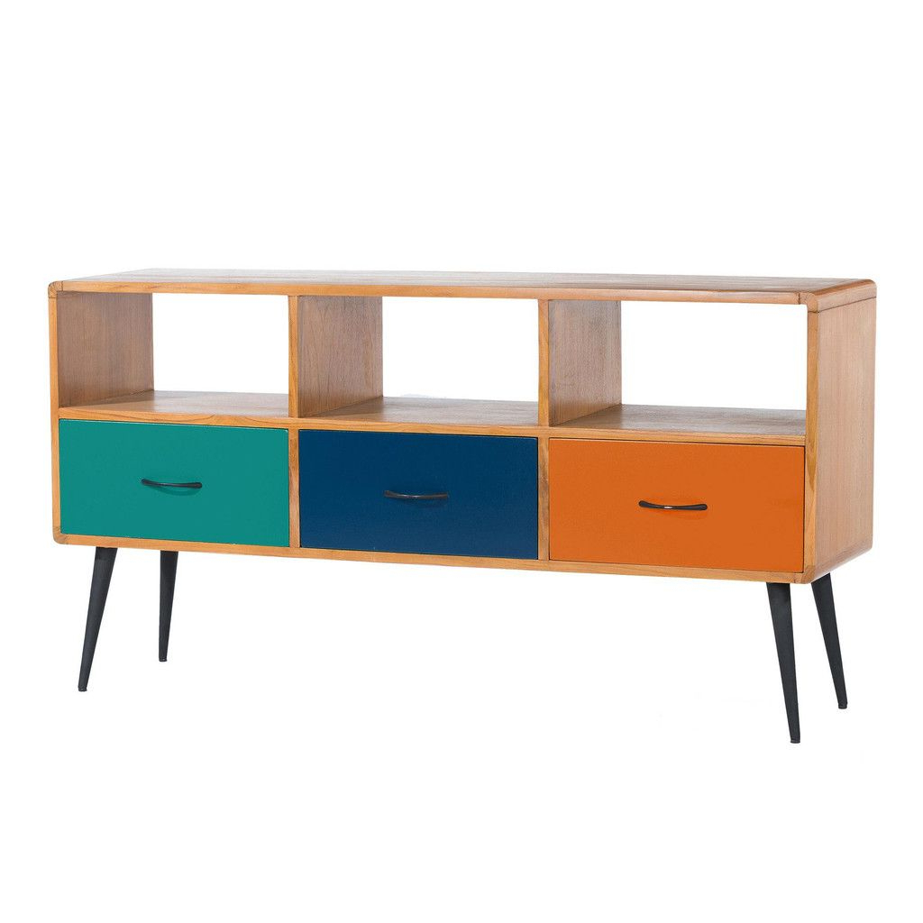 Funky Tv Cabinets Pertaining To Well Liked Ex Debenhams Comet Funky Retro Tv Cabinet Only £359 #bargain (Gallery 3 of 20)
