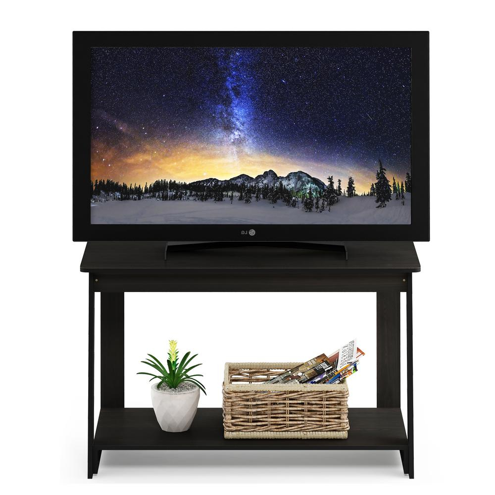 Furinno Beginning Espresso Tv Stand 18041Ex – The Home Depot Within Well Known Expresso Tv Stands (View 11 of 20)