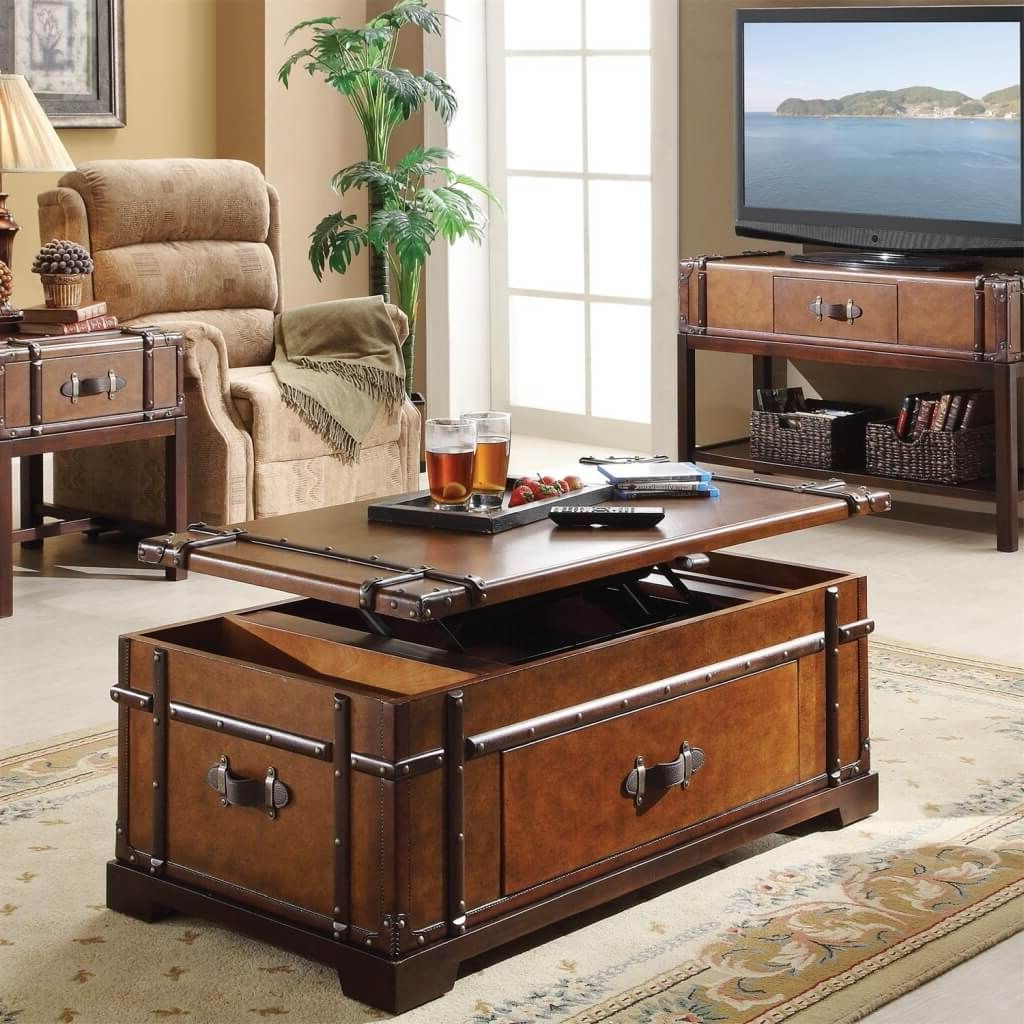 Furniture: Accent Trunk Lift Top Living Room Coffee Table With With Fashionable Coffee Tables And Tv Stands (Gallery 20 of 20)
