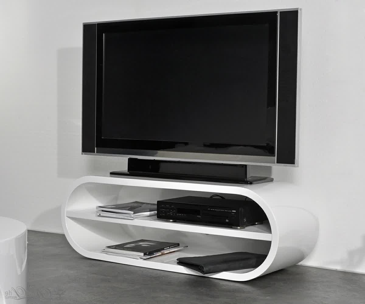 Furniture, Awesome White Funky Tv Stands In Interesting Shape And Pertaining To Current Funky Tv Stands (View 2 of 20)