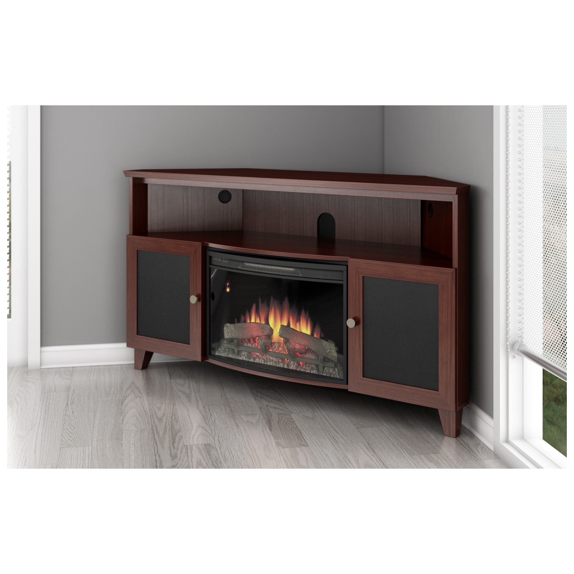 Furniture: Captivating Tv Stand With Fireplace For Living Room In Trendy Corner Tv Stands For 60 Inch Tv (View 13 of 20)