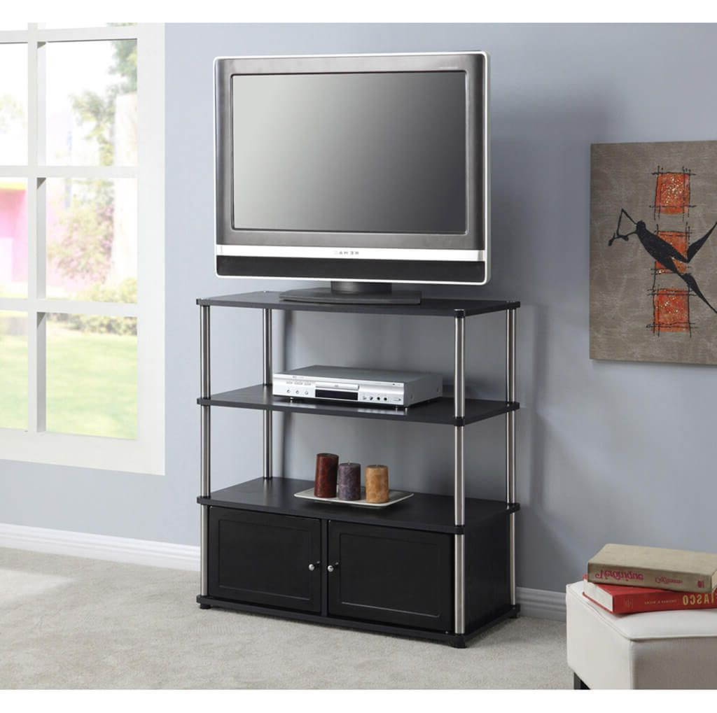 Furniture: Contemporary Chromed Legs Tall Tv Stands For Flat Screens With Regard To Well Known Tall Tv Stands For Flat Screen (Gallery 8 of 20)