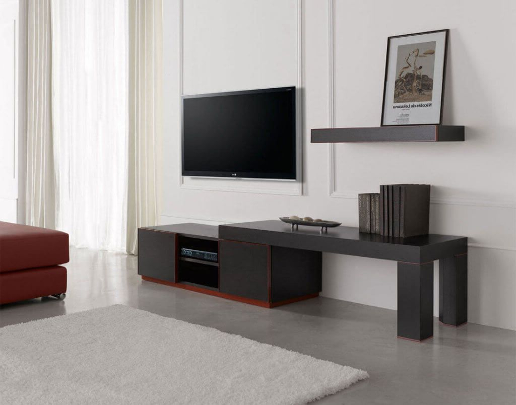 Furniture: Contemporary Tv Stands With Attractive And Appealing For Current Low Profile Contemporary Tv Stands (View 6 of 20)