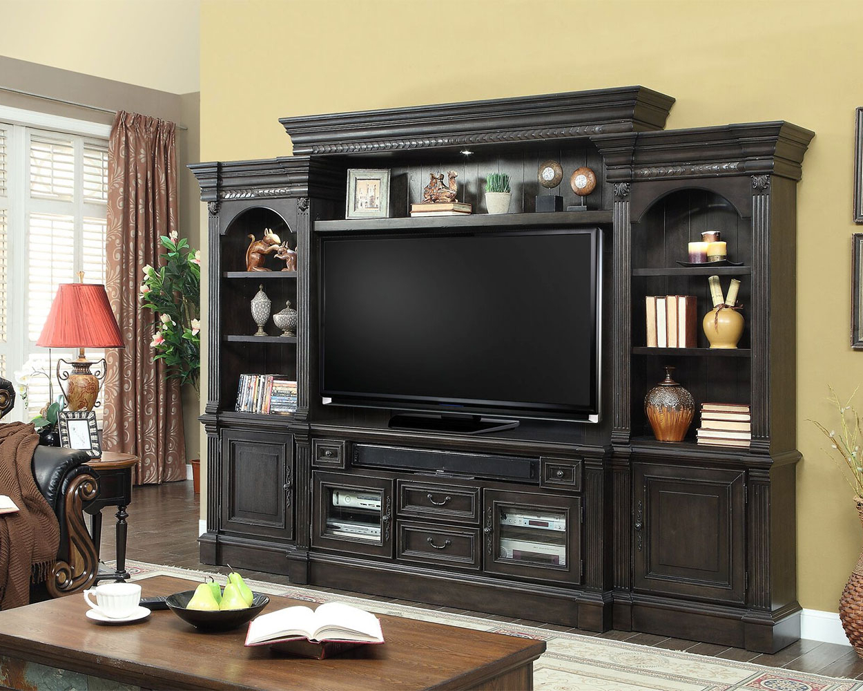 Furniture: Display Space For Audio Components And Collectibles With In Popular 60 Inch Tv Wall Units (View 12 of 20)