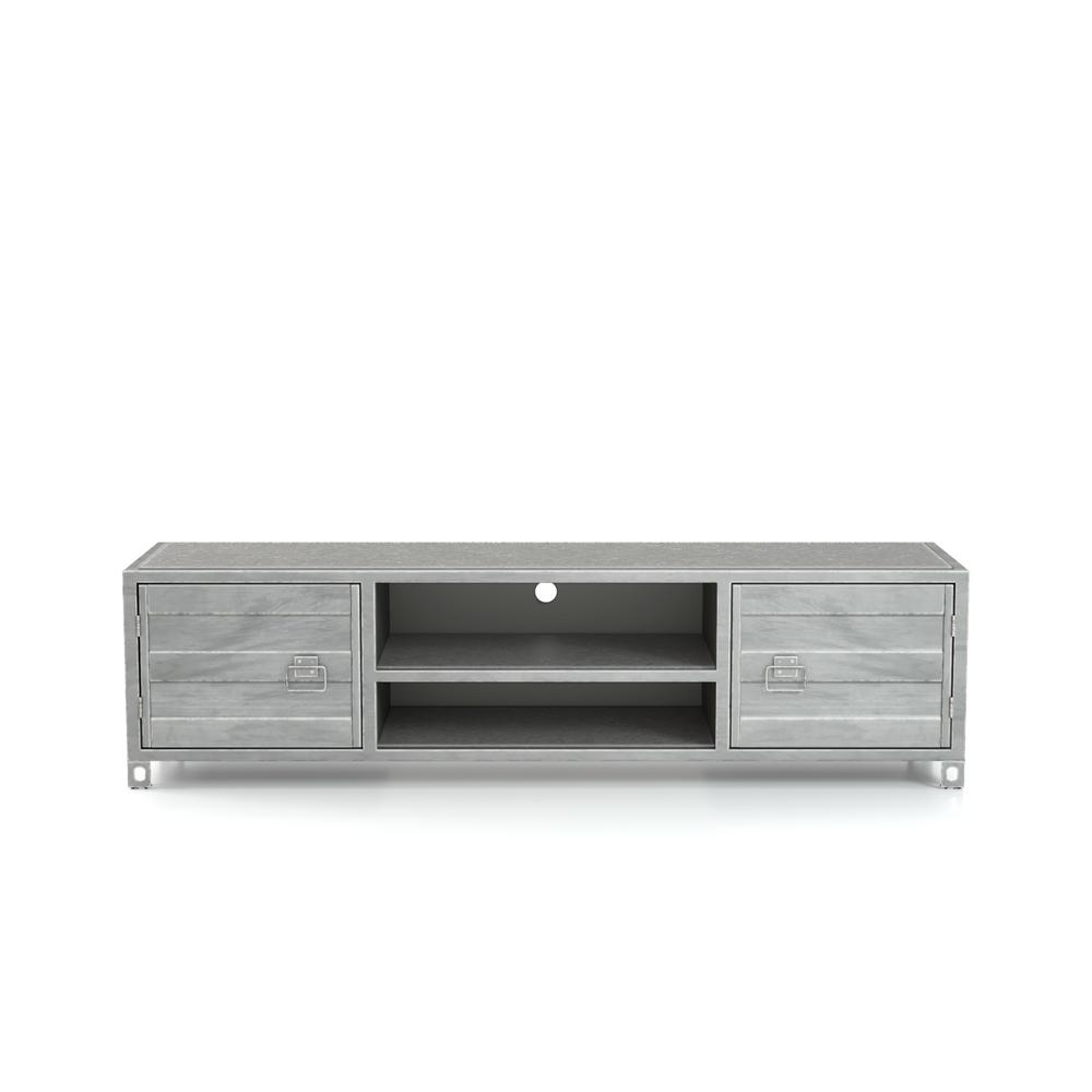 Furniture Of America Hart Silver Metal Tv Stand Idf 5458 Tv – The Intended For Recent Silver Tv Stands (View 6 of 20)