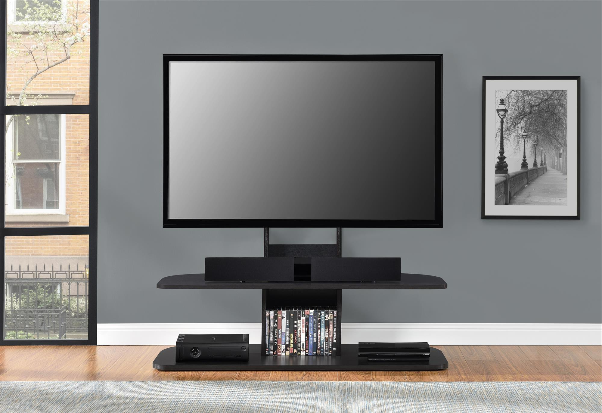 Galaxy Tv Stand With Mount For Tvs Up To 65 Pertaining To Tv Stands Over Cable Box (Gallery 6 of 20)