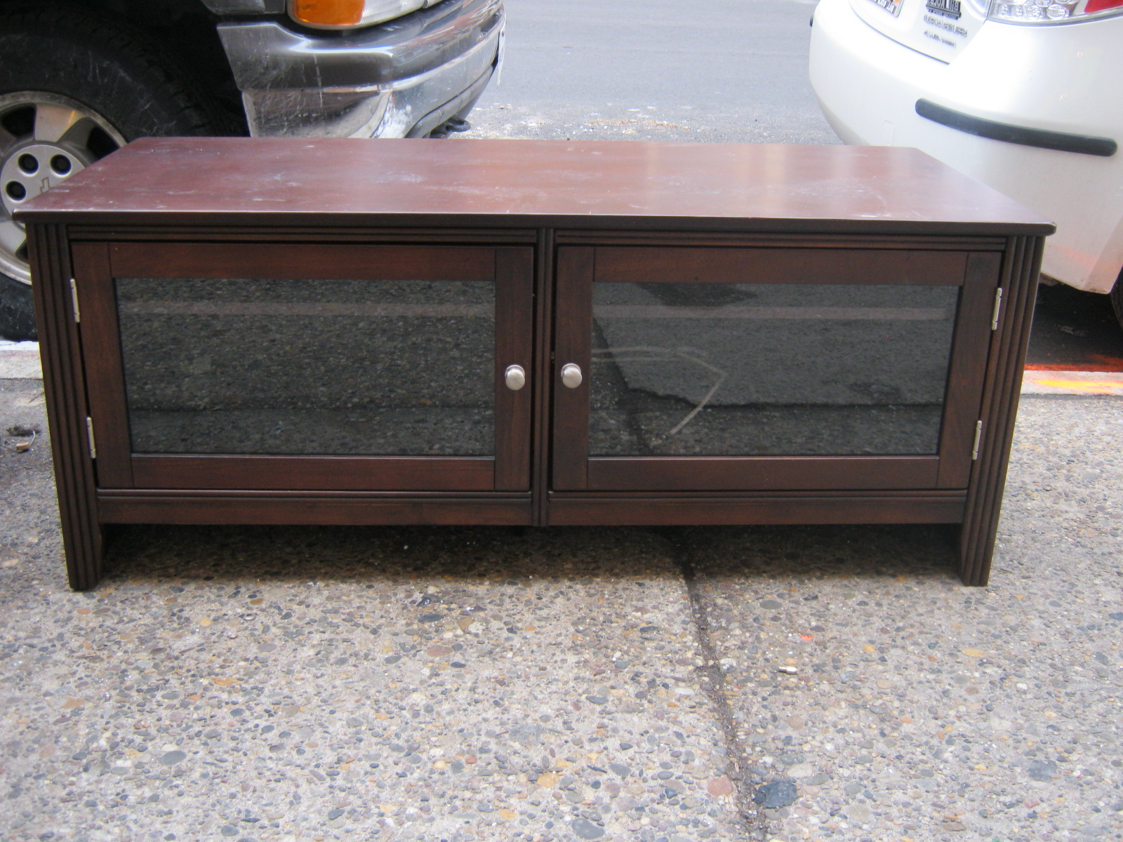 Glass Front Tv Stands Within Recent Uhuru Furniture & Collectibles: Glass Front Tv Stand Sold (View 2 of 20)