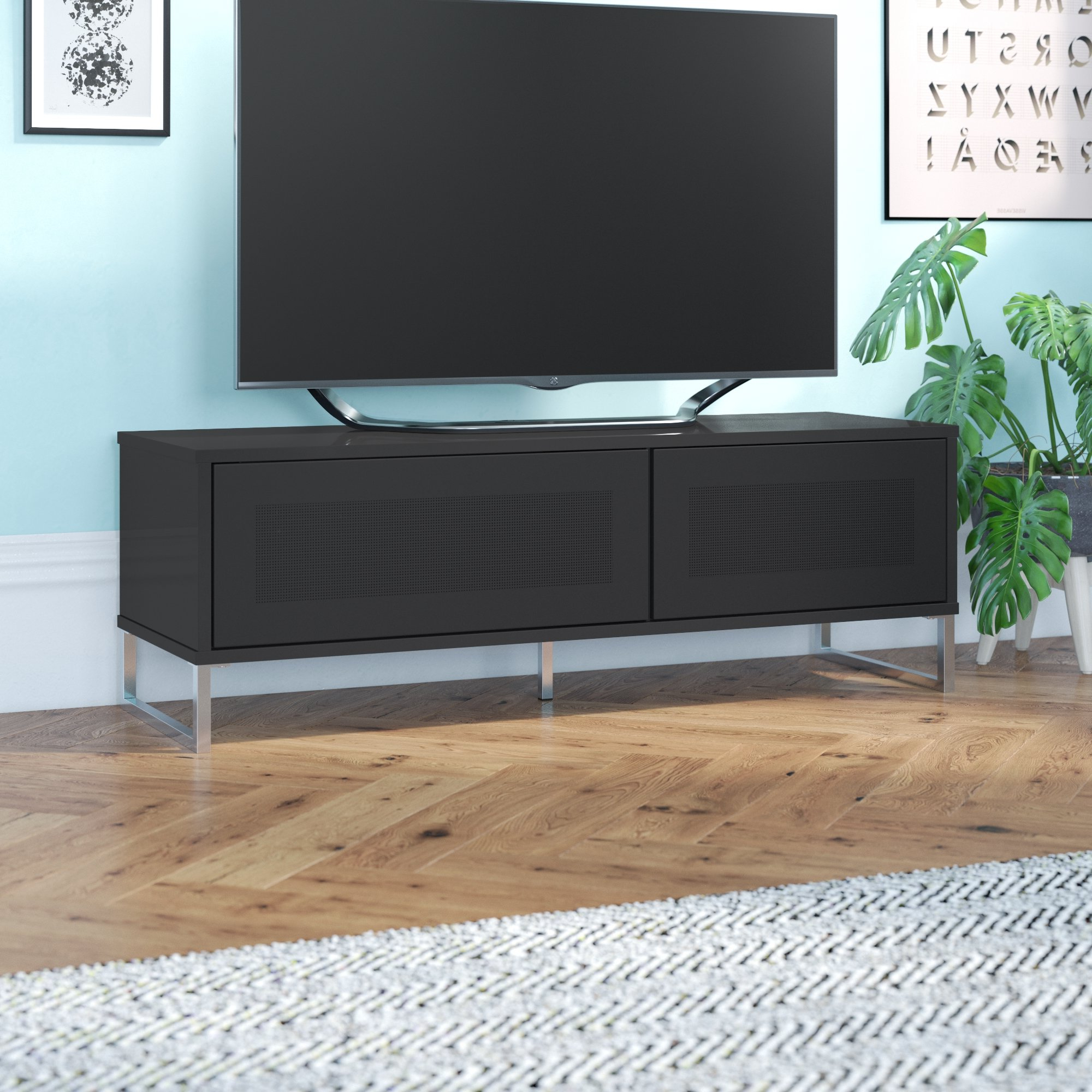 Glass Tv Cabinets With Doors Regarding Popular Tv Cabinet With Glass Doors (View 6 of 20)